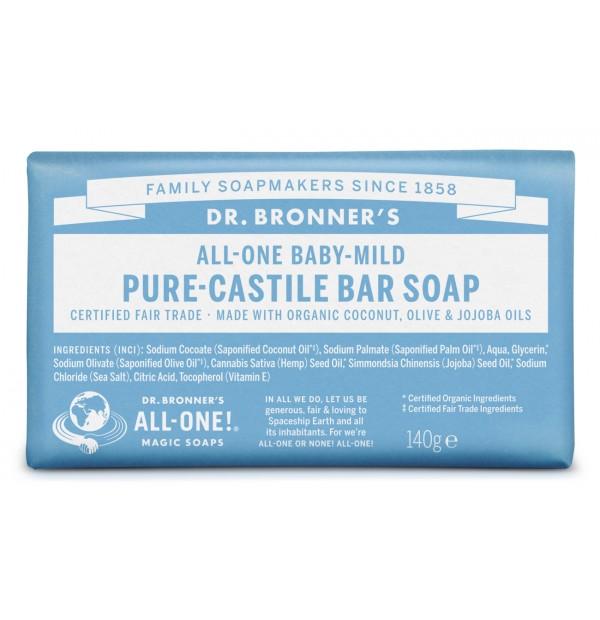DR. BRONNERS Jabón de castilla en pastilla - Bebés neutral